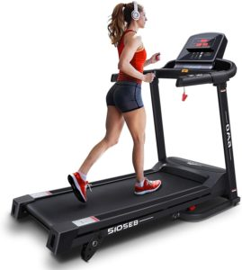 A lady running on OMA Home Treadmills