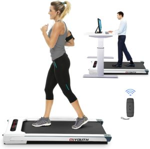 People are walking and running on treadmill