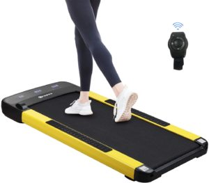 slim running pad for using at home, under desk and outdoor