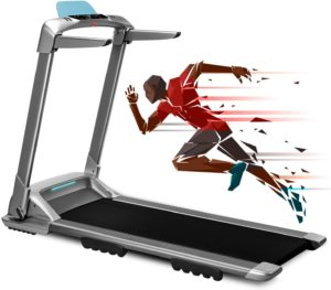 Manual folding treadmill