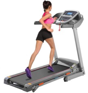 girl walking on treadmill