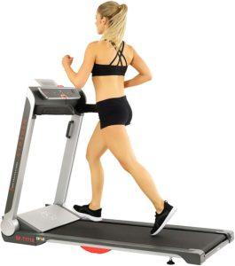 Sunny Health & Fitness Electric Slim Folding Running Treadmill