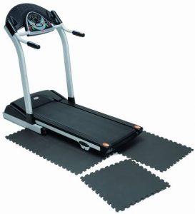 interlocking tile for treadmill