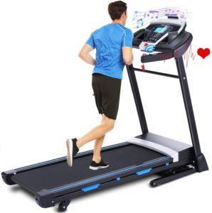 man running on treadmills