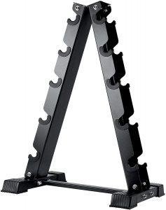 A-frame dumbbell rack