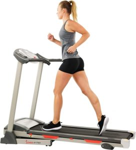 Sunny Health & fitness treadmill running