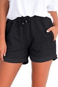 black sport shorts for women