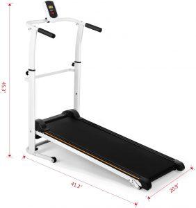 white portable treadmill