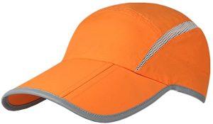 orange hats for running