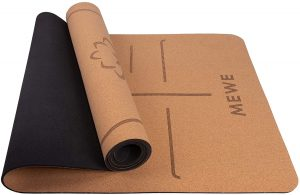 Mewe Cork Natural Rubber Yoga Mat