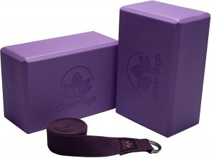 Clever Yoga Blocks and Strap Set 2 Pack