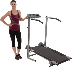 High Capacity Magnetic Resistance Manual Treadmill with Heart Pulse System
