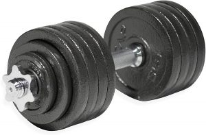CAP Barbell 60-Pound Adjustable Dumbbell Weight Set