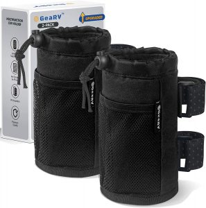 pocket for cup and beverage storage