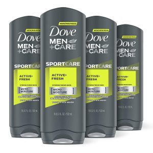 men body and face wash