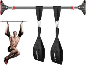 Pull-Up Bar with Ab Straps, Doorway Chin Up Bar