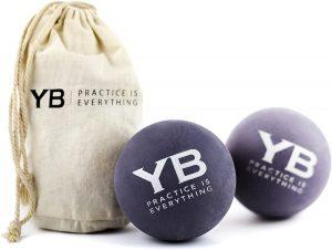 YOGABODY Jumbo Yoga Massage Balls with Canvas Bag
