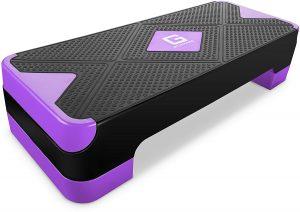 GYMMAGE Adjustable Workout Aerobic Stepper