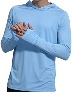 Men's UPF 50+ Sun Protection Workout Hoodie for men