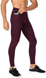 N/ A Men's Compression Pants Workout Athletic Leggings