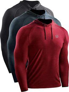 Neleus Dry Fit Athletic Workout Hoodies for men