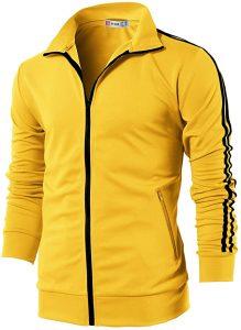 H2H Mens Active Slim Fit Track Lightweight Jacket