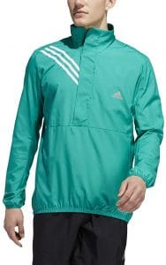 man with Green running jacket