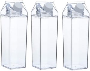 clear square bottles