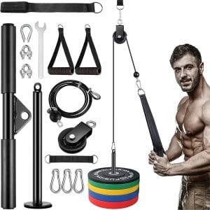 KOVEBBLE Fitness LAT and Lift Pulley System