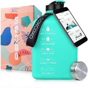 SOCOO Square Water Bottle BPA Free